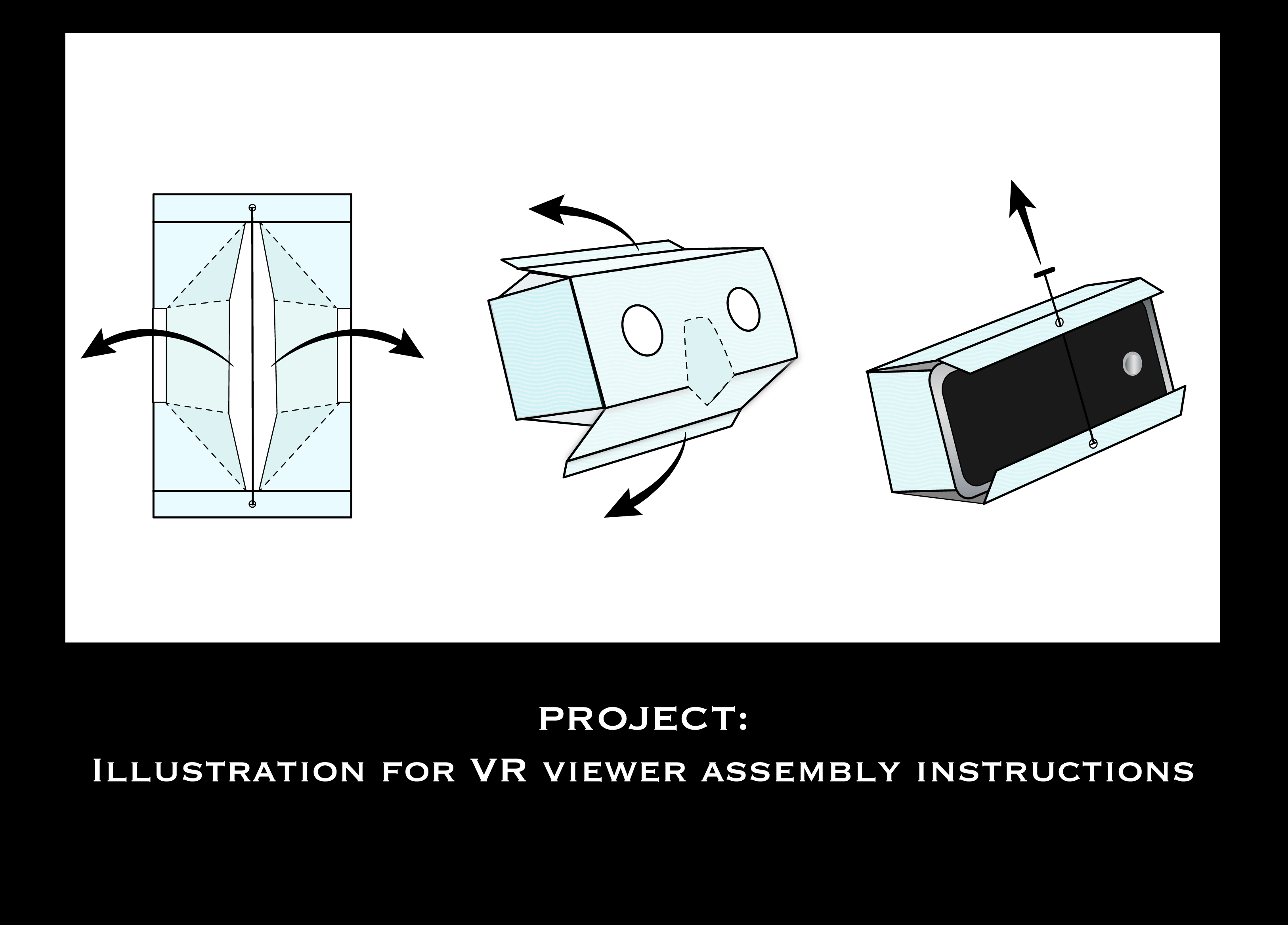 VR viewer instructions illustration