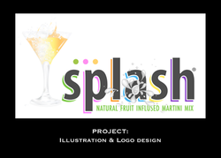 Splash logo design and illustration