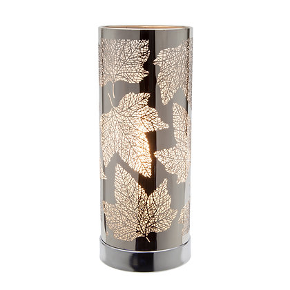 White-Silver Maple Leaf Touch Lamp  (Case of 6) Unit Price £8.95
