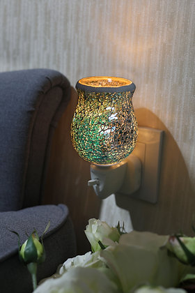 Turquoise Crackle Mosaic Wax Warmer (Case of 12) Unit Price £5.95