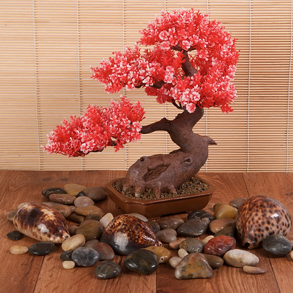 Resin Bonsai Red (28cm)