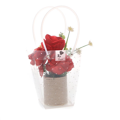 Red rose flower display (Case of 6) Unit Price £4.95