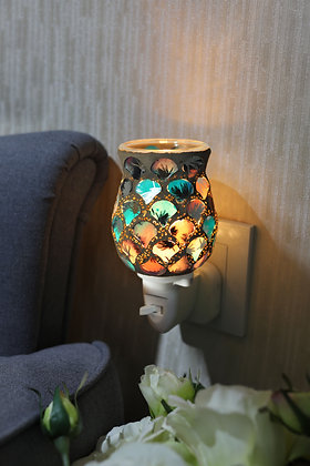 Pink Green Mosaic Wax Warmer (Case of 12) Unit Price £5.95