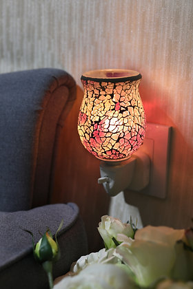Opaque Purple Silver Crackle Tulip Mosaic Wax Warmer(Case of 6) Unit Price £5.95