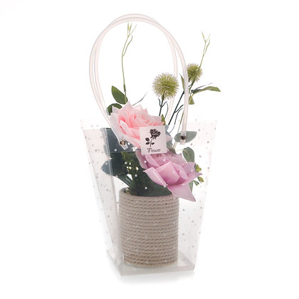 Pink Flower Display (Case of 6) Unit Price £4.50