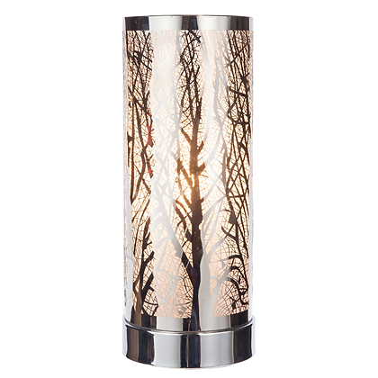 White Silver Aroma Touch Lamp(Case of 6) Unit Price £9.60