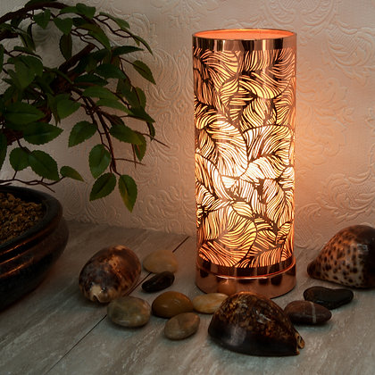 Rose Gold White Leaf Aroma Touch Lamp(Case of 6) Unit Price £9.25