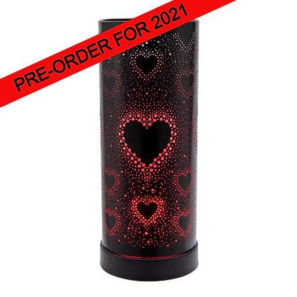 Hearts Colour Changing LED Black Casing  (Case of 6) Unit Price £11.95