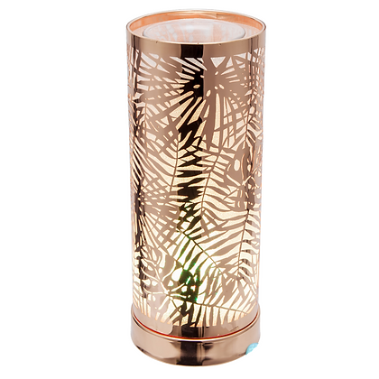 Colour Changing Wax Burner - Rose Gold Fern (Case of 6) Unit Price £12.75