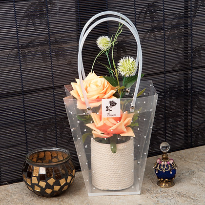 Peach Flower Display (Case of 6) Unit Price £4.50