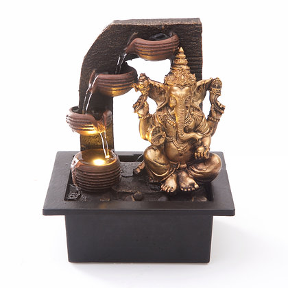 Ganesha with Water Cups Fountain (Case of (6) Unit Price £15.95