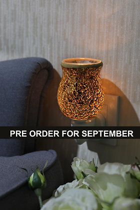 Gold Crackle Tulip Mosaic Wax Warmer(Case of 12) Unit Price £5.95