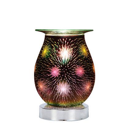 Star Fireworks 3D Lamp Silver Base