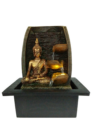 Golden Buddha with Water Cups