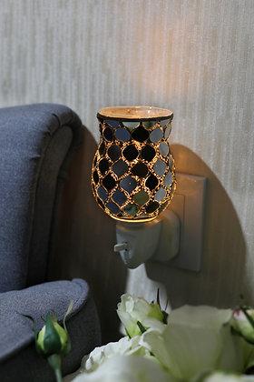 Silver Moroccan Tulip Mosaic Wax Warmer