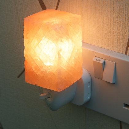 Patterned Cube Plug In Salt Lamp (13 cm)