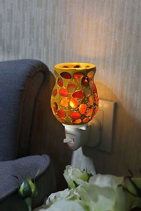 Amber Gold Mosaic Wax Warmer (Case of 12) Unit Price £5.95