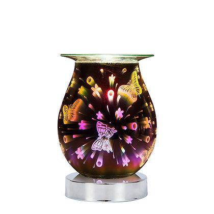 Butterflies 3D Lamp Silver Base (Case of 12) Unit Price £11.95