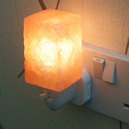 Patterned Cube Plug-in Salt Lamp(Case of 12) Unit Price £4.95