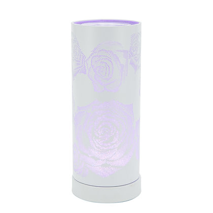 Colour Changing Wax Burner - White Rose (Case of 6) Unit Price £12.75