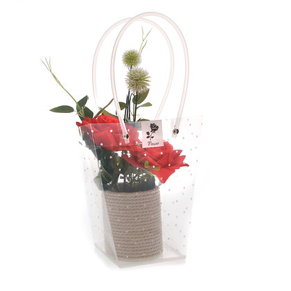 Red flower display (Case of 6) Unit Price £4.50