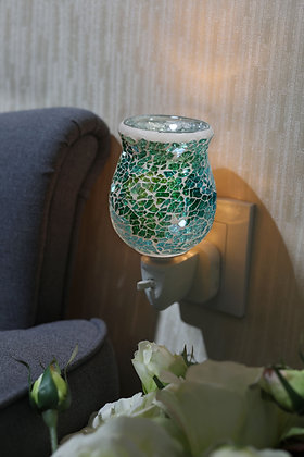 Green Crackle Mosaic Wax Warmer