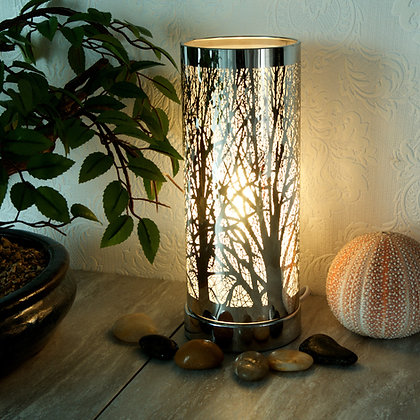 Silver Aroma Touch Lamp