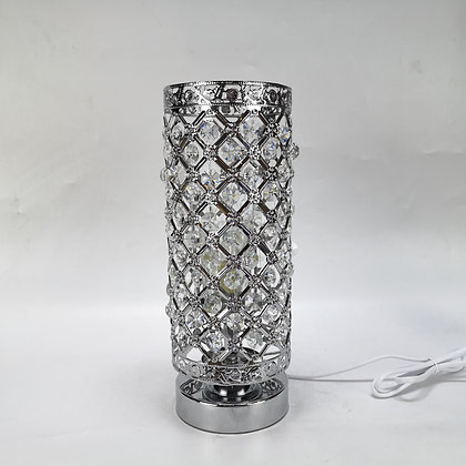 Silver- White Elegance Jewelled Touch Lamp (case of6) £11.95