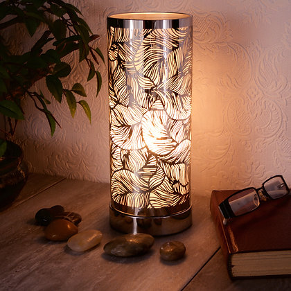 White Silver Leaf Aroma Touch Lamp(Case of 6) Unit Price £8.95