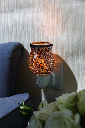 Champagne Gold Crackle Tulip Mosaic Wax Warmer