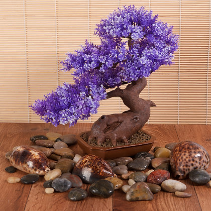 Resin Bonsai Purple (28cm)