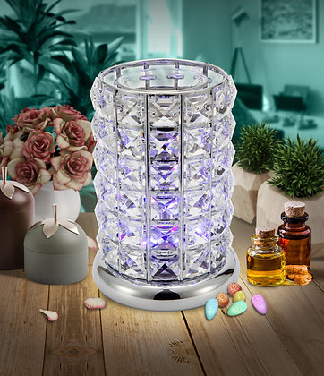 Clear-Silver Crystal LED Lamp (Case of 6)