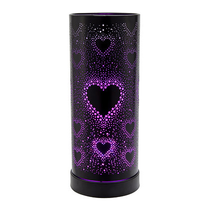 Hearts Colour Changing LED Black Casing  (Case of 6) Unit Price £12.75
