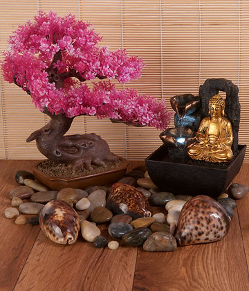Resin Bonsai Pink (28cm) (case of 2)