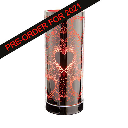 Red Silver Hearts Touch Lamps (Case of 6) Unit Price £8.95