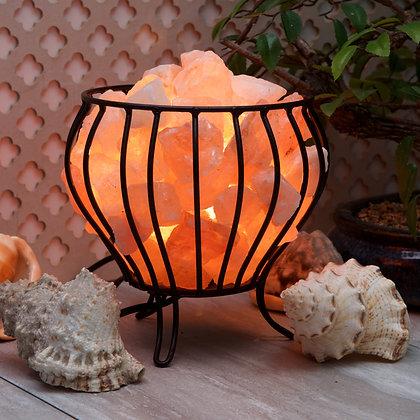 Iron Basket with Himalayan Salt Rocks