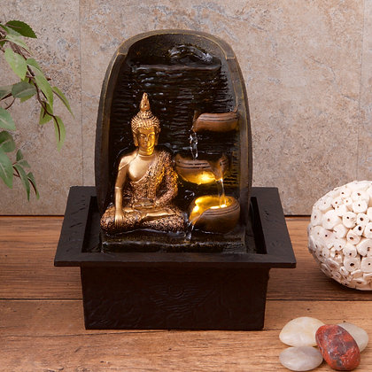 Golden Buddha with Water Cups (Case of (6) Unit Price £14.95