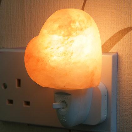 Heart Shaped Plug - in  Himalayan Salt Lamp (13 cm)