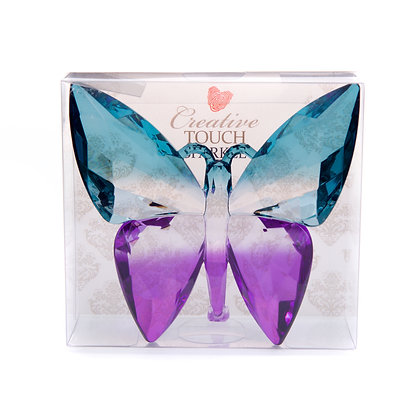 Teal & Purple Acrylic Butterfly(Case of 12) Unit Price £3.95