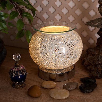 Silver Mosaic Aroma Lamp (Case of 12) Unit Price £10.95