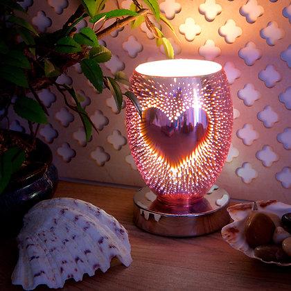 Heart Glass 3D Wax Melt Burner