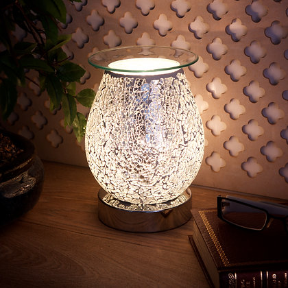 Silver Egg Mosaic Aroma Lamp(Case of 12) Unit Price £11.95