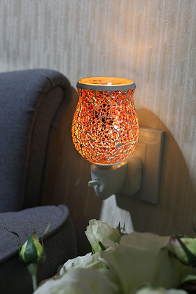 Rose Gold Crackle Mosaic Wax Warmer (Case of 12) Unit Price £5.95
