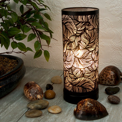 Black-White Leaf Aroma Touch Lamp(Case of 6) Unit Price £9.25