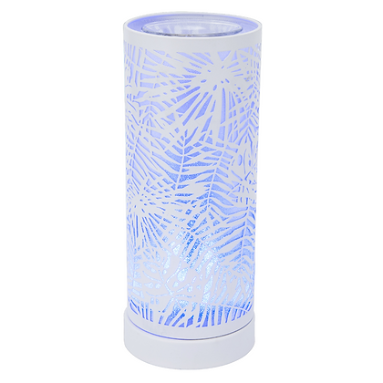 Colour Changing Wax Burner - White Fern (Case of 6) Unit Price £12.75