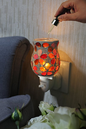 Golden Red Flowers Wax Warmer (Case of 12) Unit Price £5.95