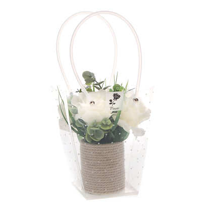 White rose flower display (Case of 6) Unit Price £4.95