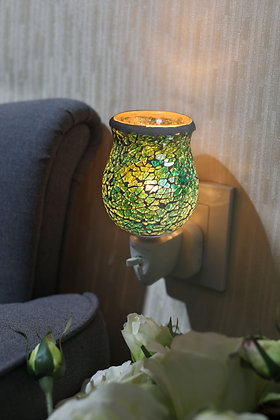 Green Crackle Mosaic Wax Warmer (Case of 12) Unit Price £5.95