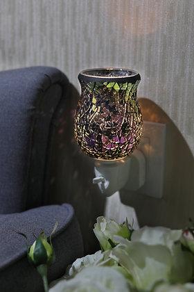 Spectrum Black Crackle Tulip Mosaic Wax Warmer