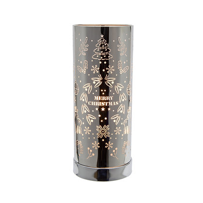 White Silver Xmas Touch Lamp(Case of 6) Unit Price £8.95